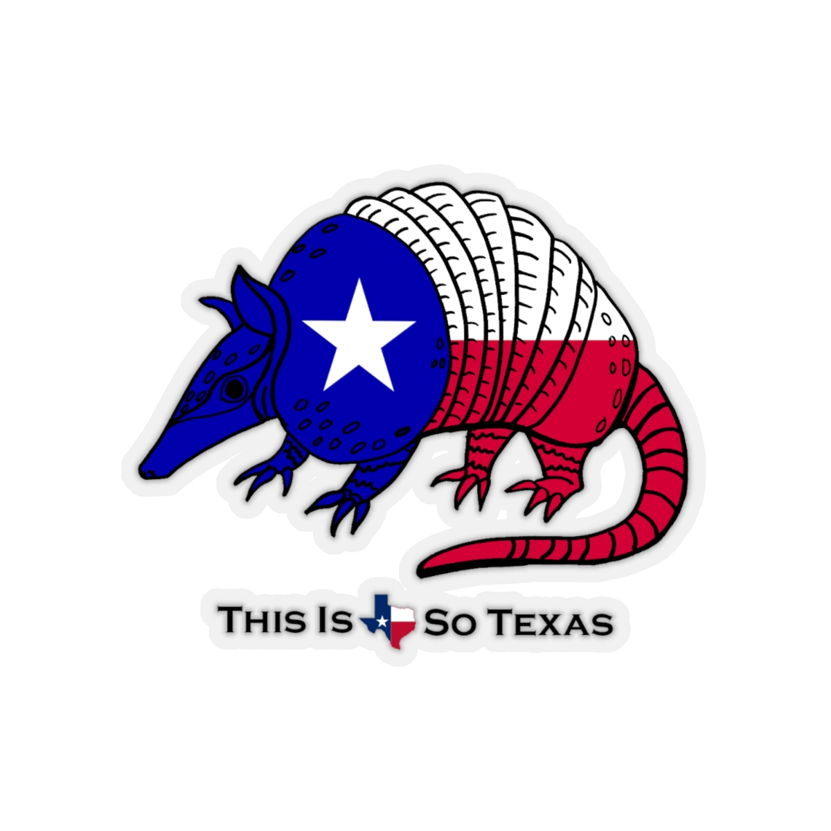 This Is So Texas: TX Armadillo Decal